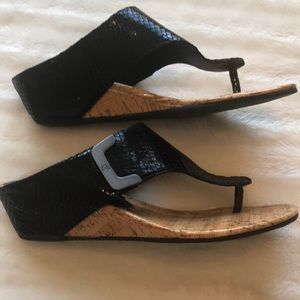 Donald J Plinner Black wedge sandal